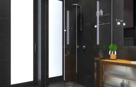 איך בנוי מקלחון הרמוניקה עם דלתות מתקפלות?