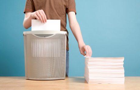 איך עובדת מגרסת נייר?